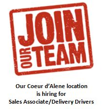 Cda help wanted for sales associates delivery drivers only.JPG
