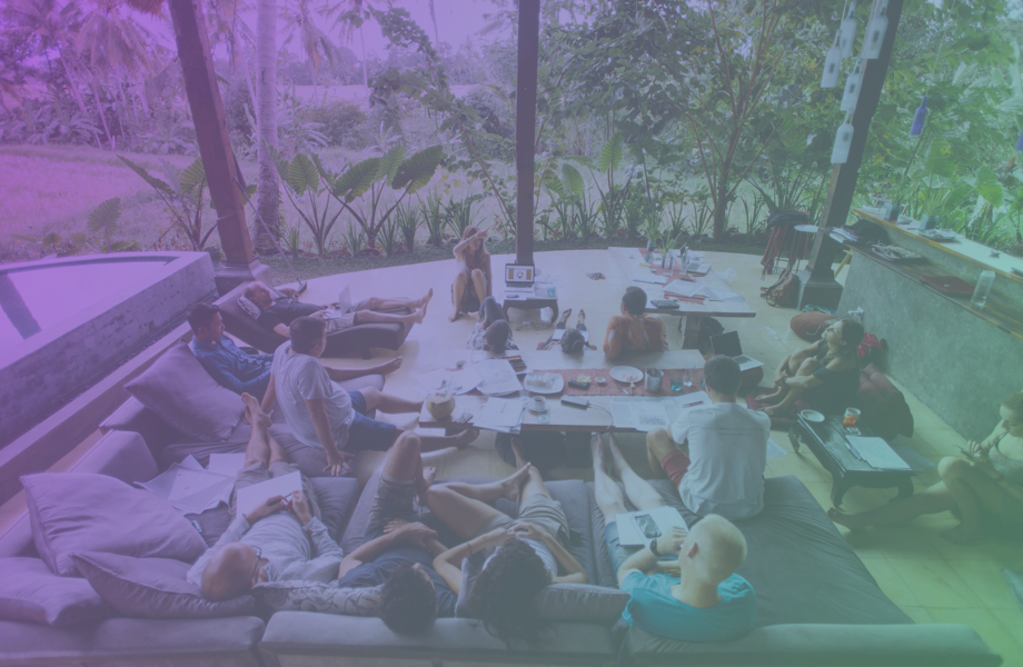 Startup acceleration sprints in nature - Did you know Bali hosts one of the most international entrepreneurial communities in the world?