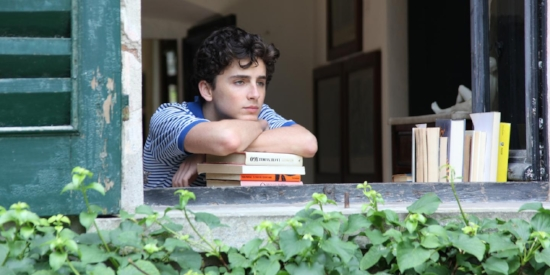 "Chalamet in ""Call Me By Your Name,"" looking just as sad as he will Sunday."