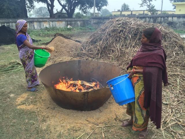 Producing biochar