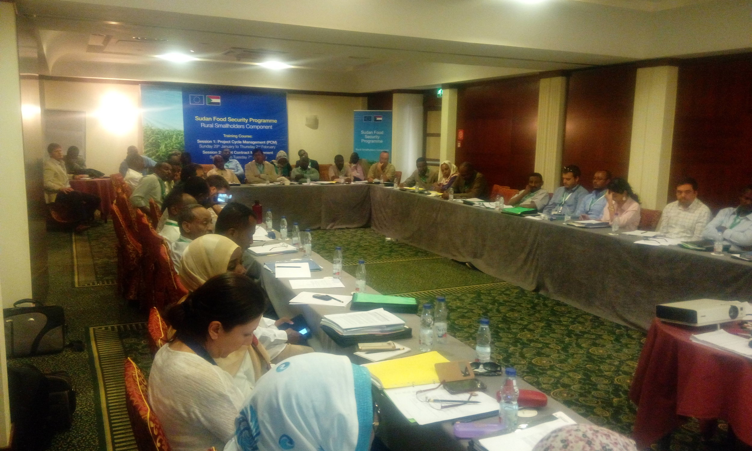 Trainees during a Grant Contract Management training session