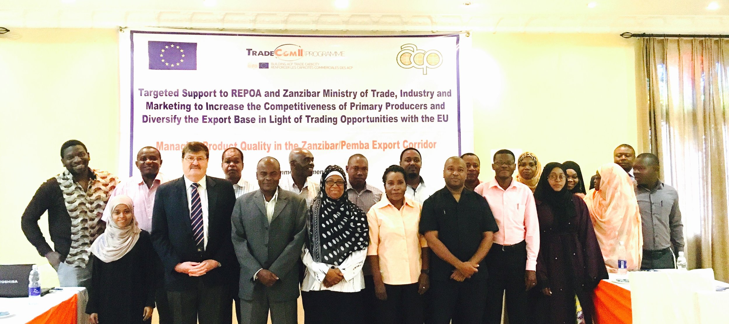 Participants at the workshop on quality management for Zanzibar trade support institutions, which was organised by Landell Mills