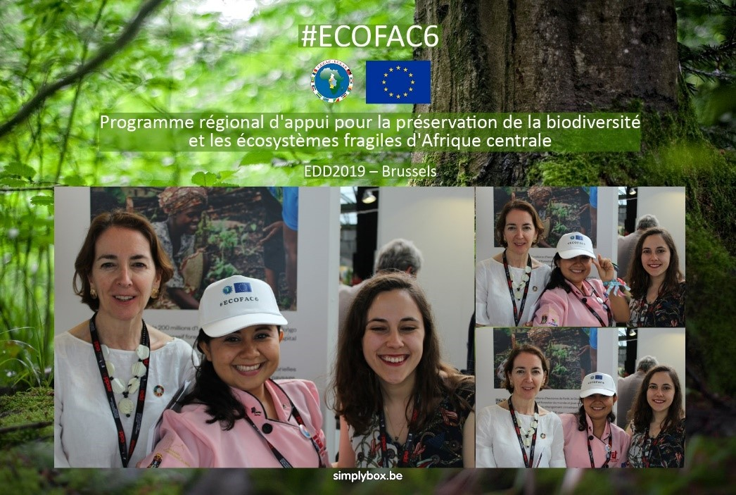 Photos from the photo booth at the ECOFAC6 stand in the Global Village