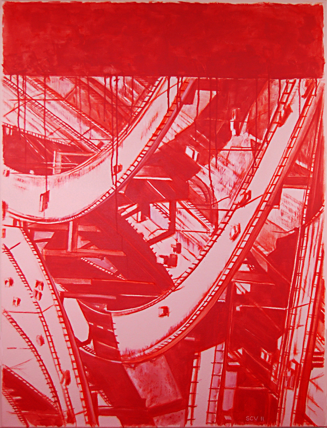 Red Interchange 2011  40x30 Acrylic on canvas