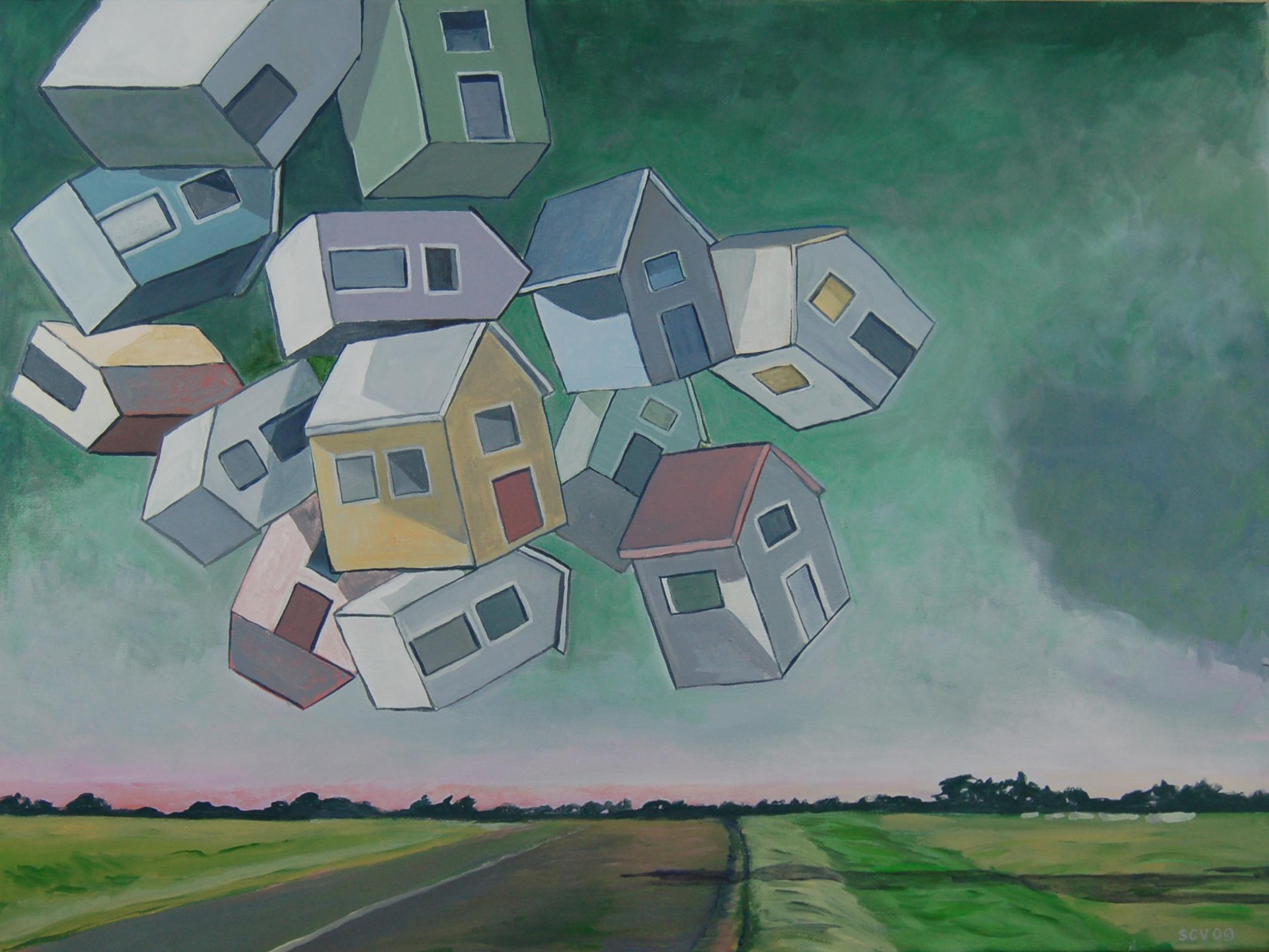Floating Falling Houses 2009