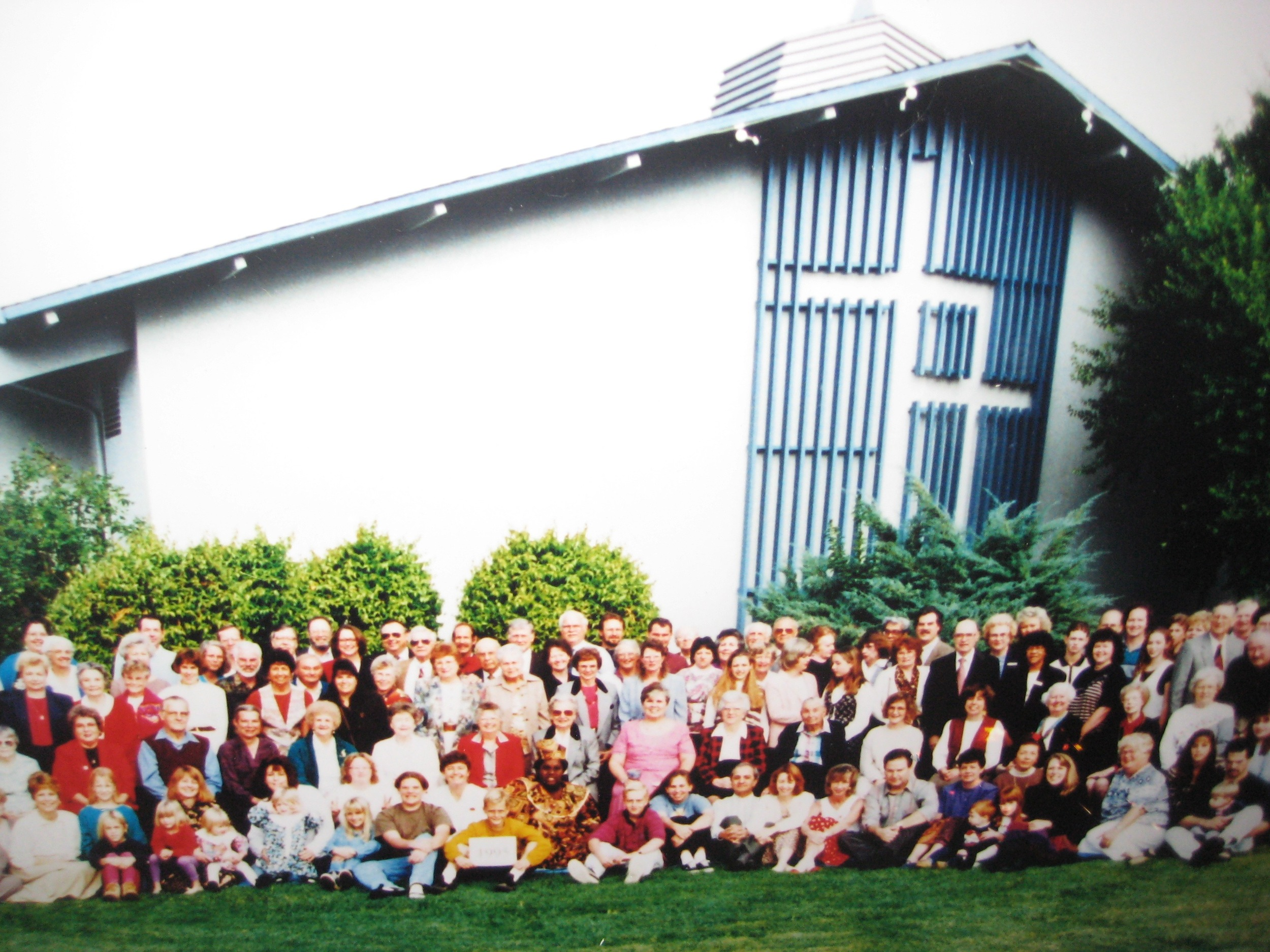 Our church family in the 1990s.