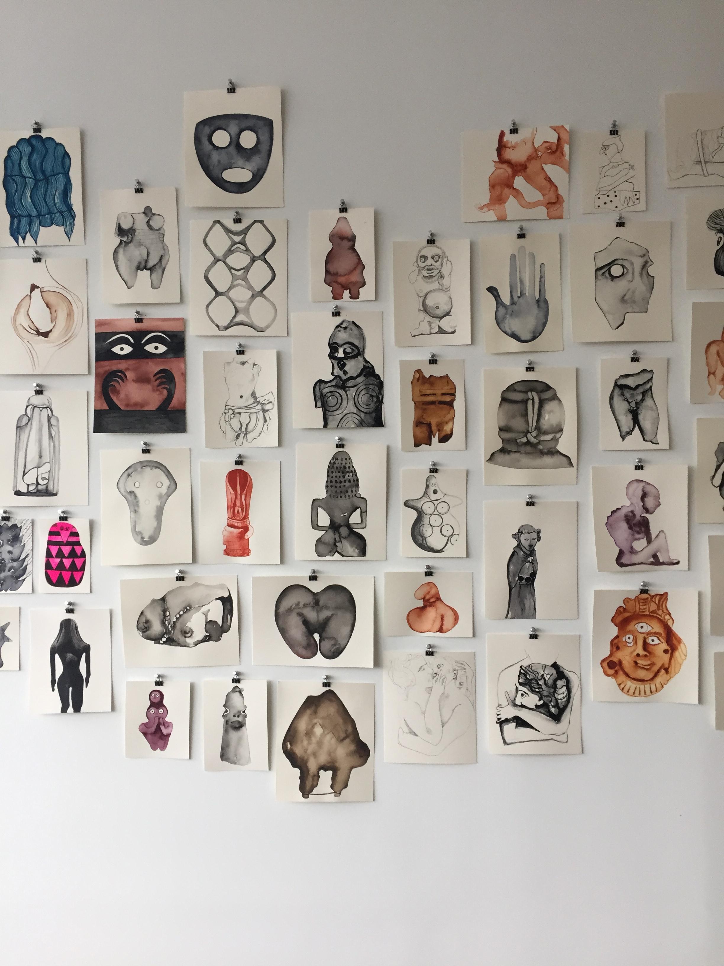 drawings, 2016-2018