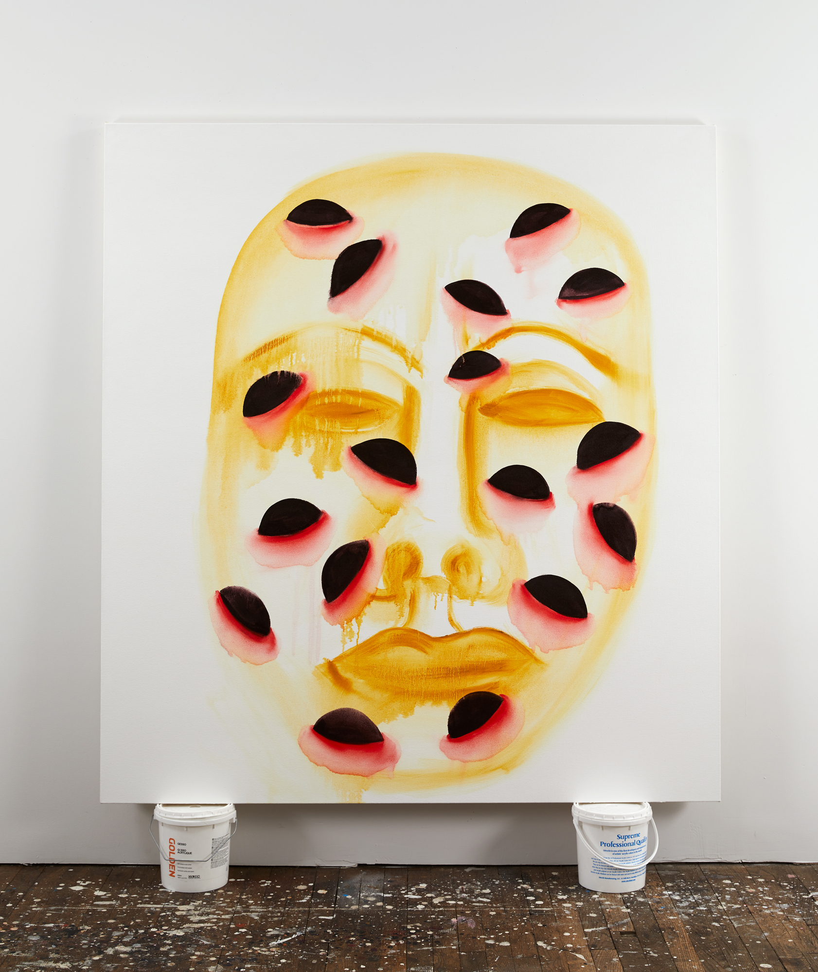 Self Portrait (samskaras), oil on canvas, 66 x 60 inches, 2017