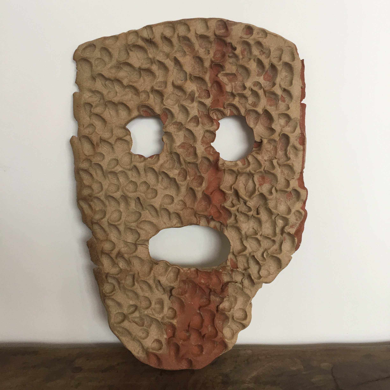 Untitled, 2018, ceramic, 13 x 10 x 1/4 inches
