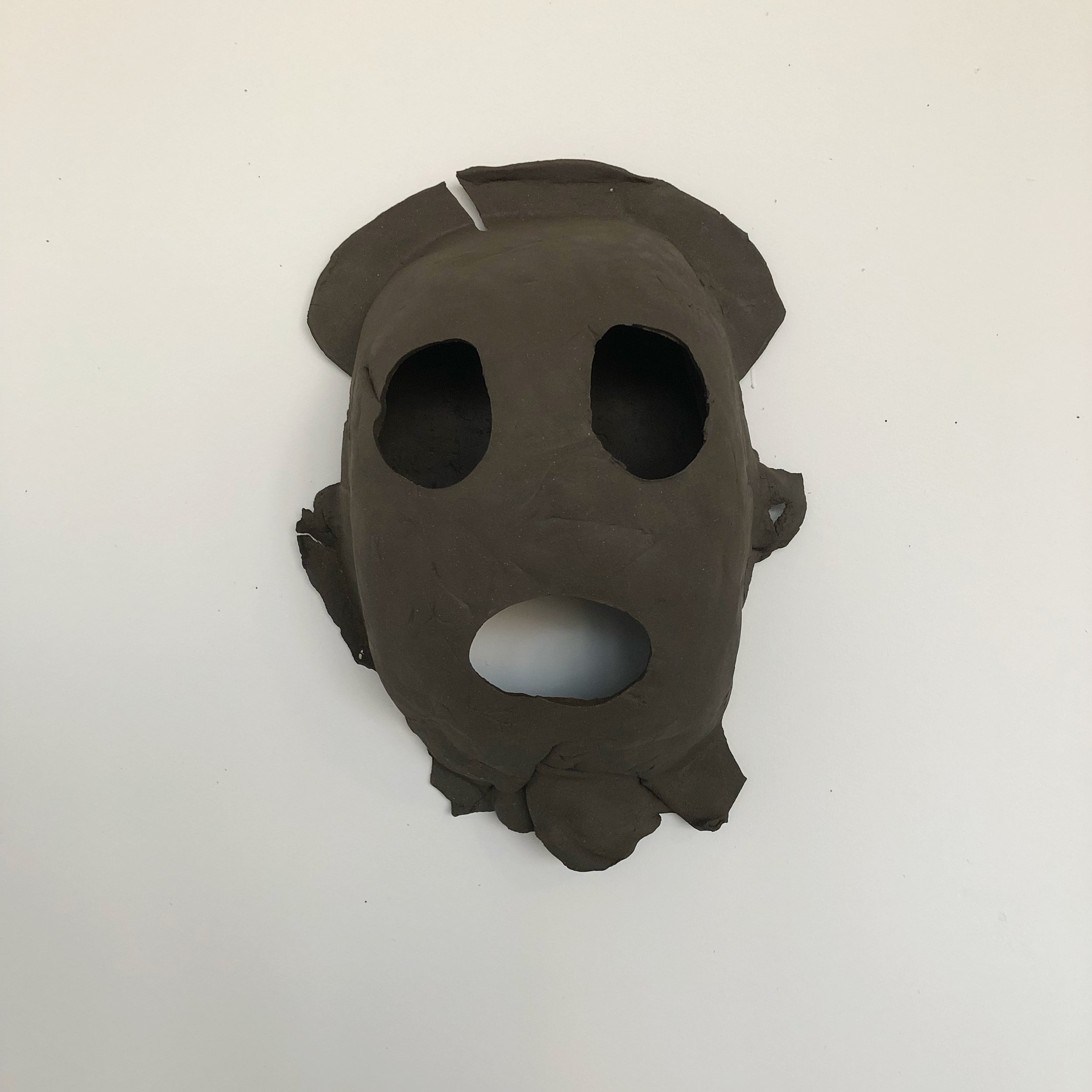 What Hole?, 2019, ceramic, 17 x 11 x 6 inches