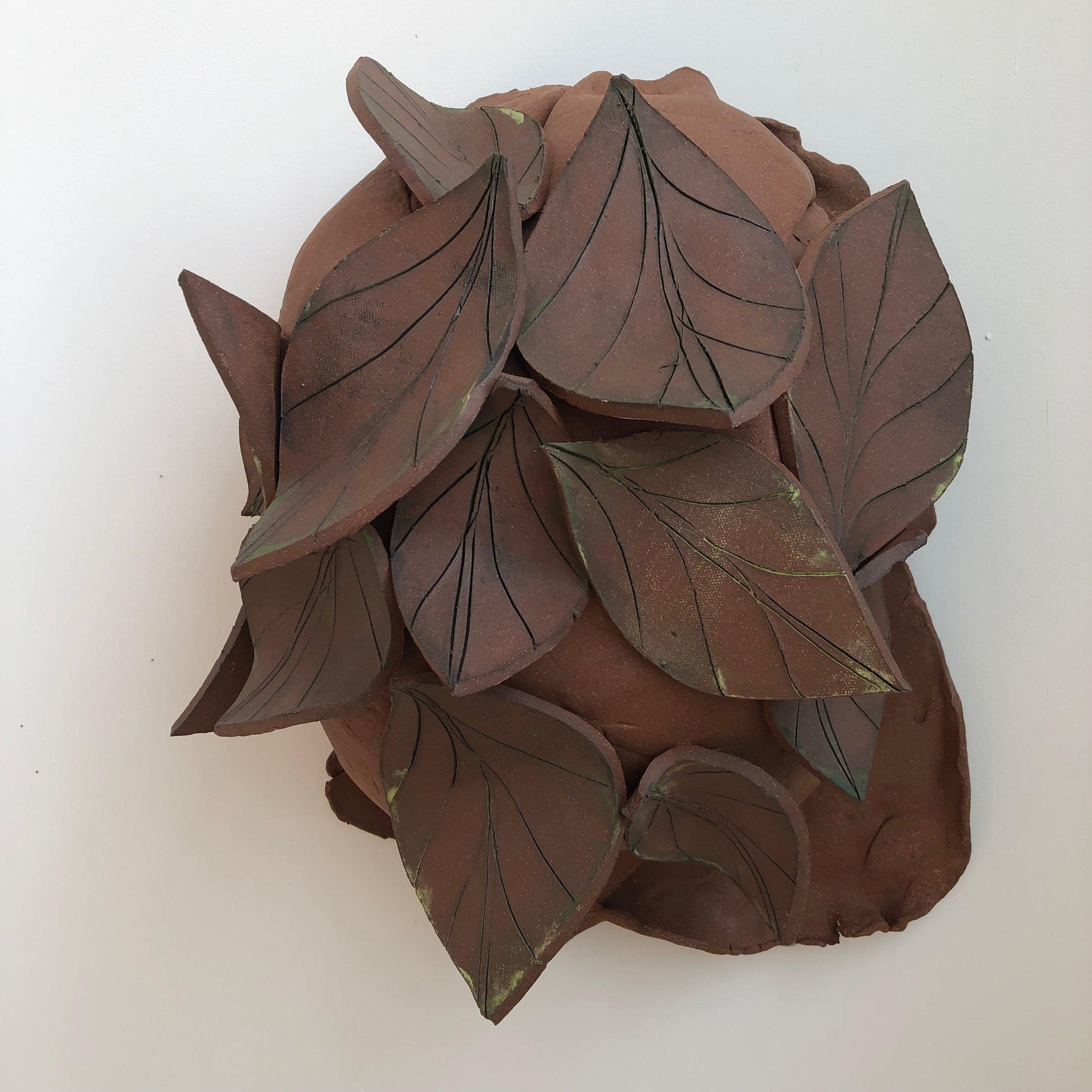 Untitled Belly, 2019, glazed ceramic, 15 x 12 x 9 inches