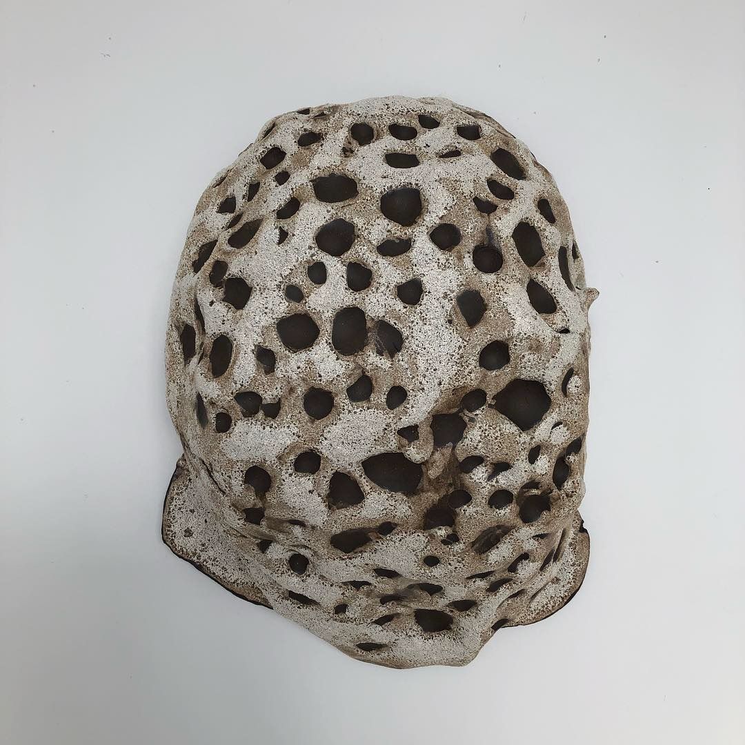 Moon Belly, 2019, glazed ceramic, 14 x 10 x 6 inches