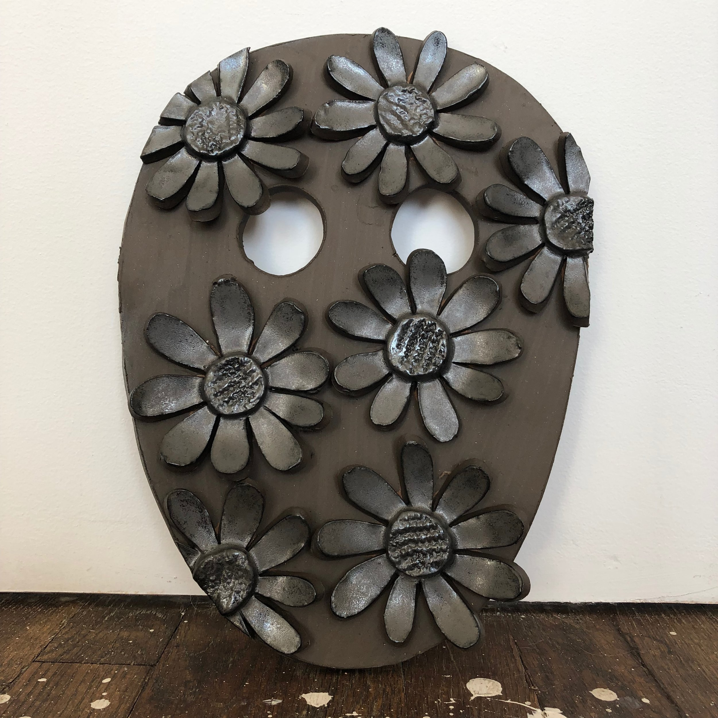 Untitled, 2019, glazed ceramic, 12 x 9 x 1 inches