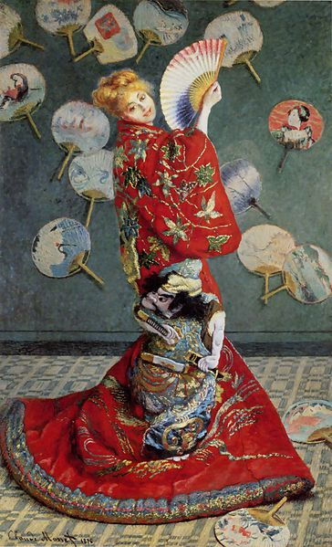 Claude Monet,  Madame Monet in a Japanese costume , 1875