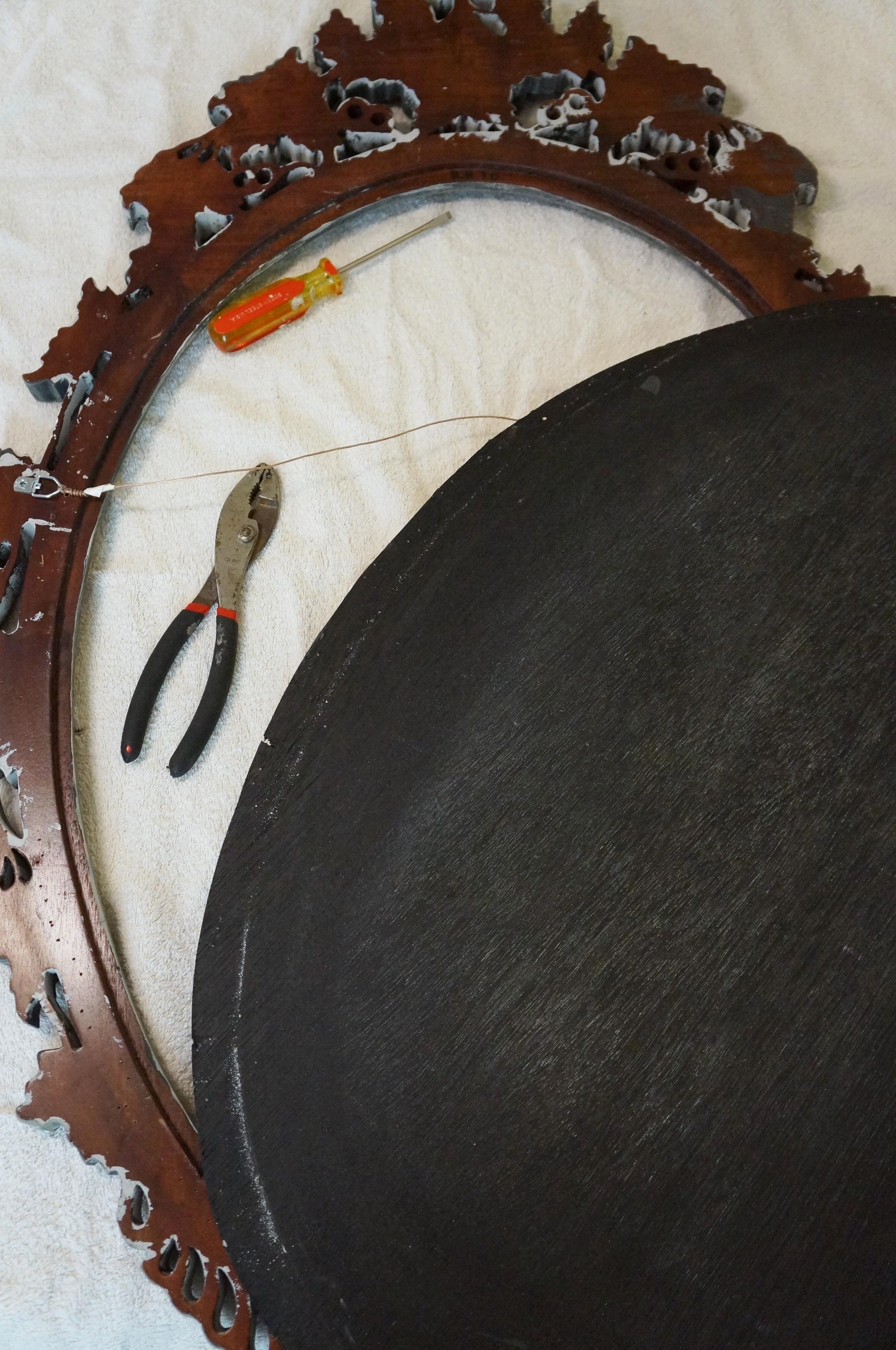 Back of chalkboard removed