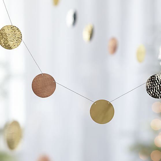 Hammered Metal Garland, Crate and Barrel