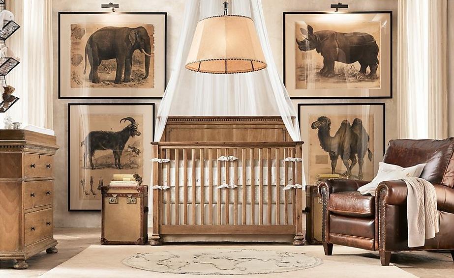 Restoration Hardware Safari Inspired Nursery