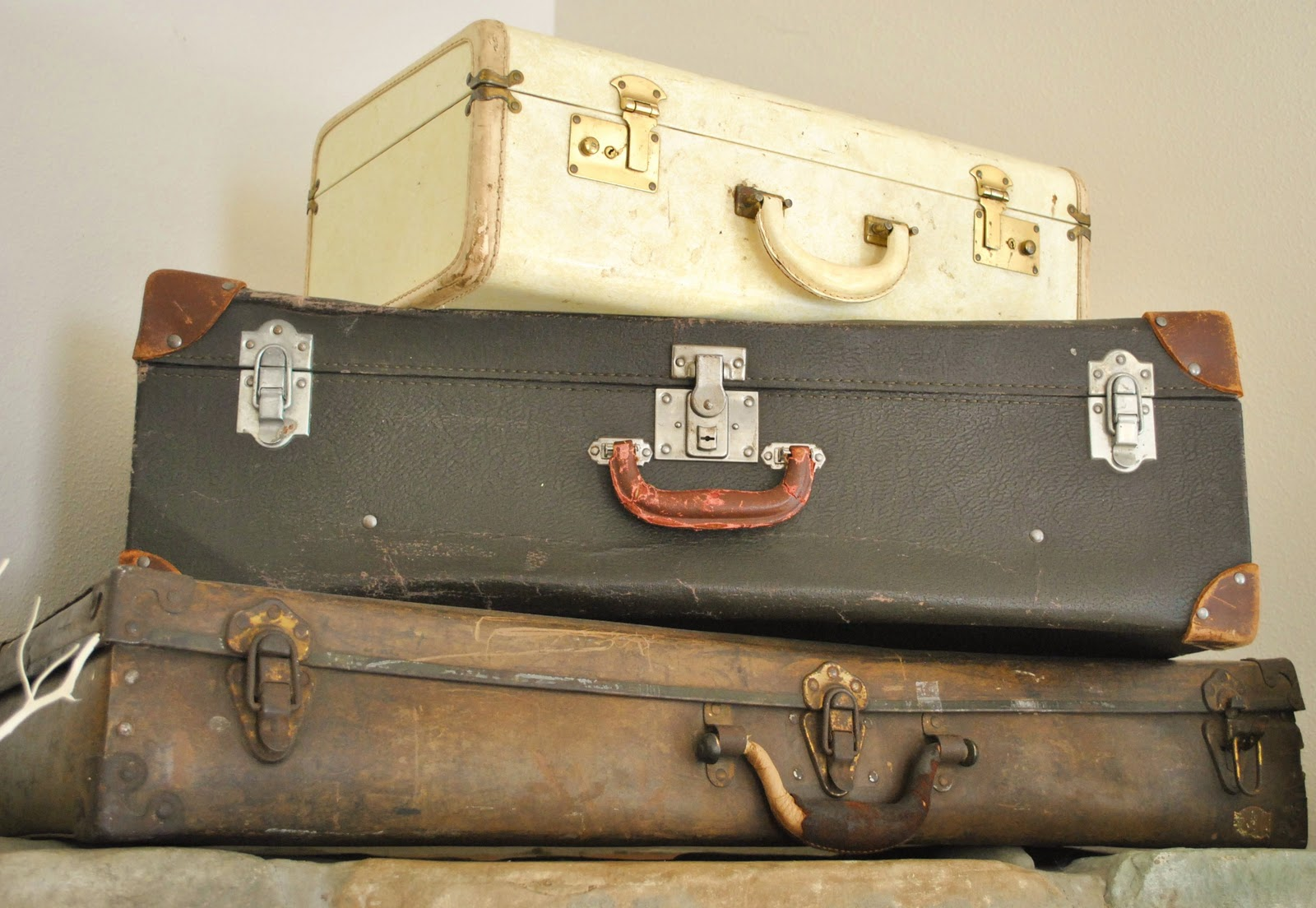 Vintage Suitcases, Courtesy Sophias Decor