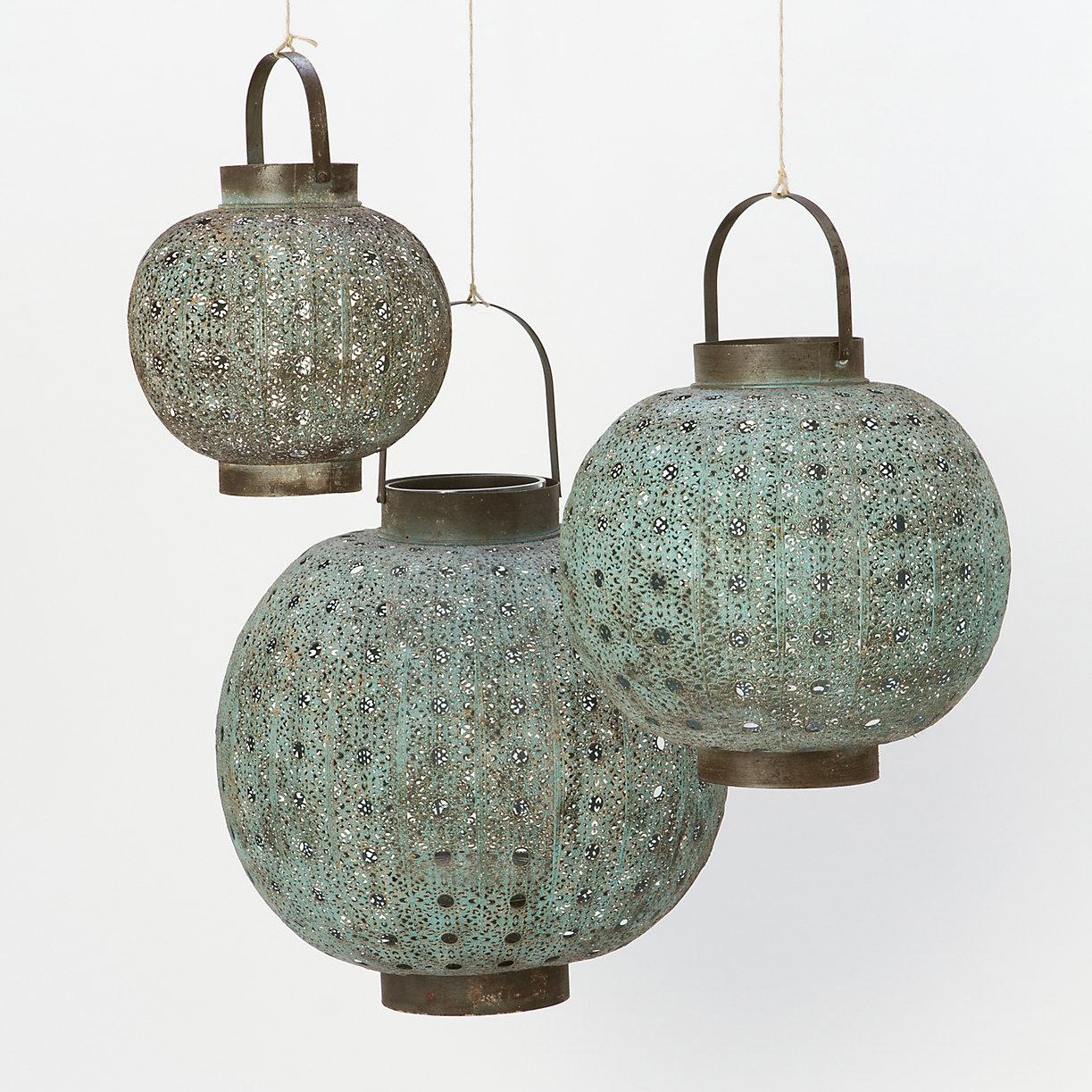 Terrain Verdigris Filigree Lanterns