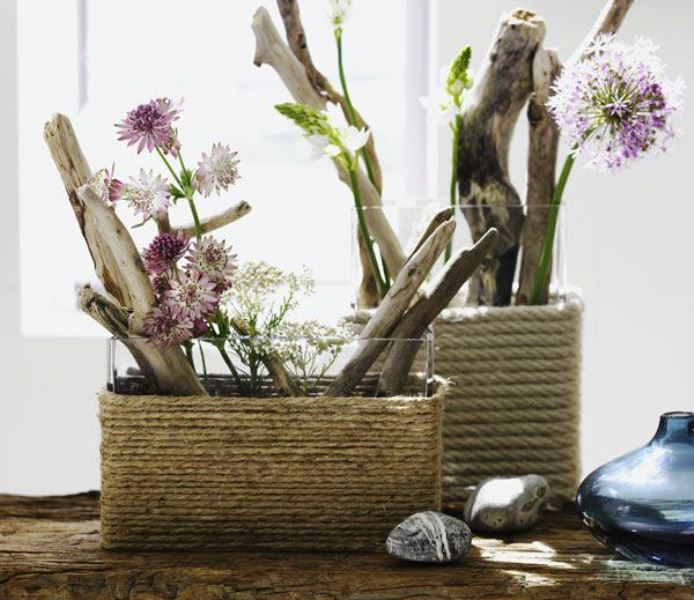 Rope vases from My Desired Home