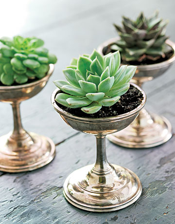 Silver goblets from Country Living