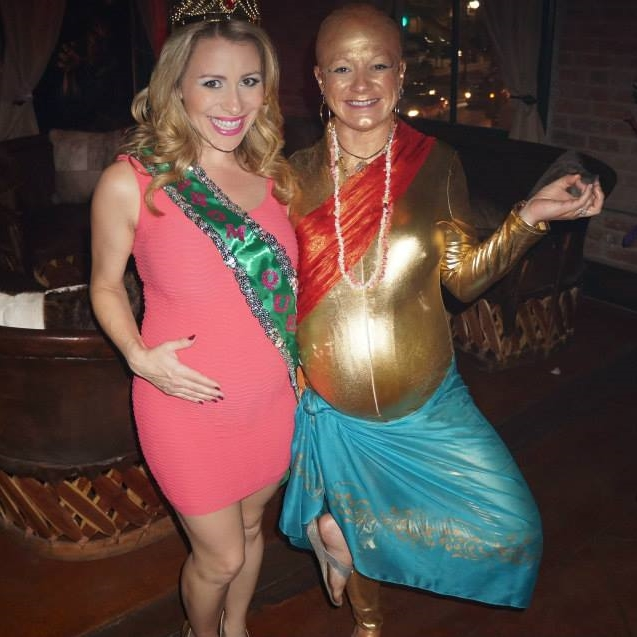 Pregnant prom queen and pregnant buddha belly