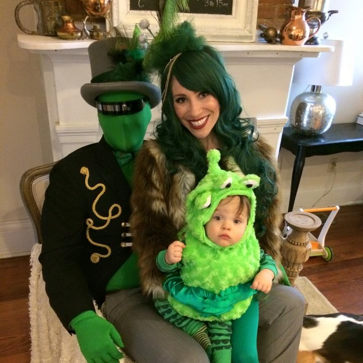 Mardi Gras martians family costume