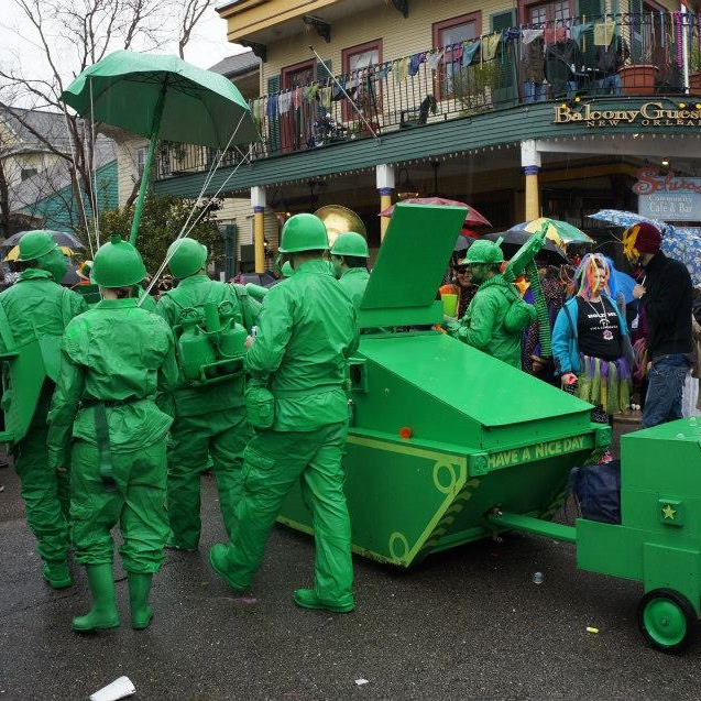 Giant green army men