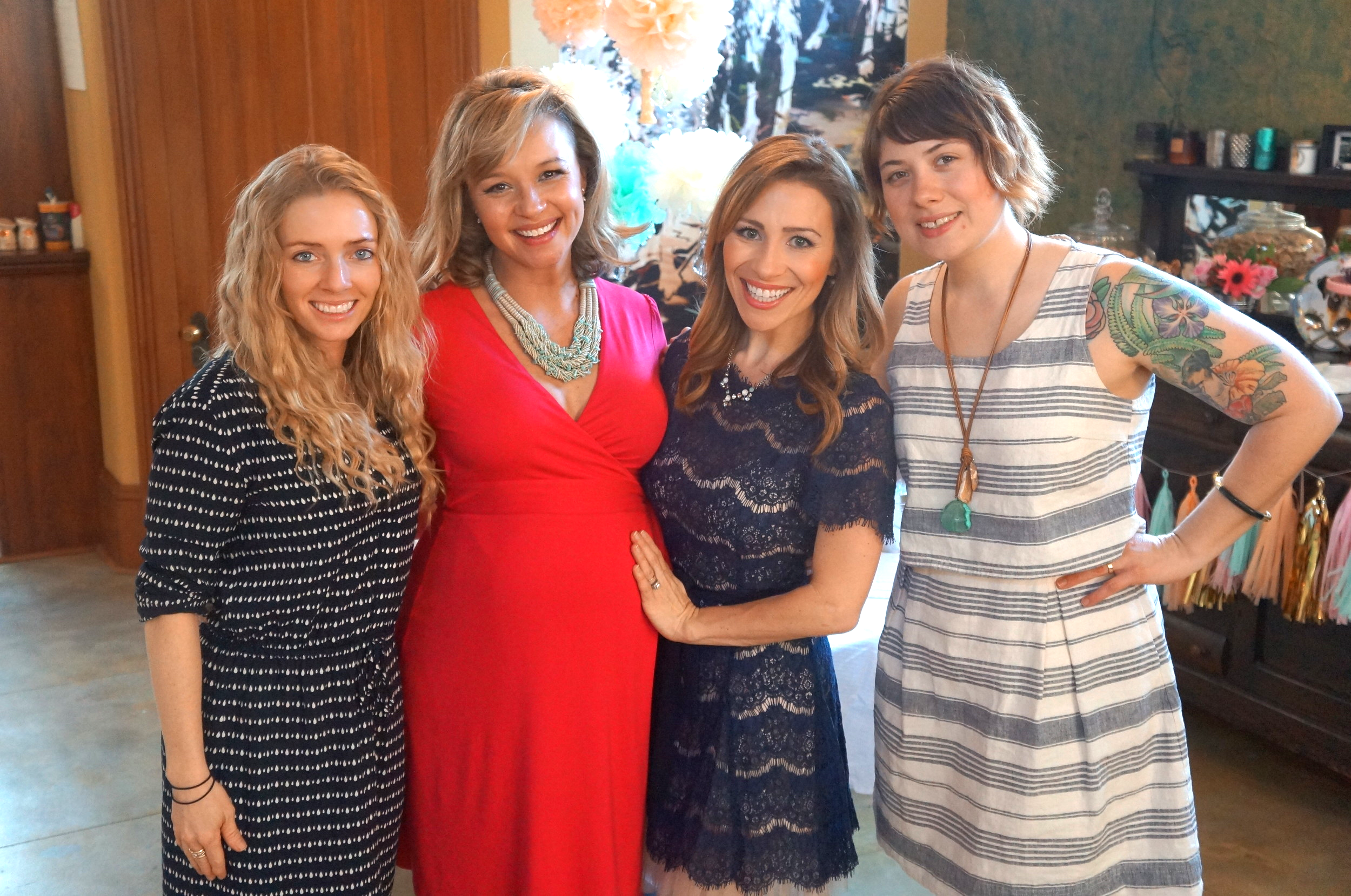 Party planners with the guest of honor