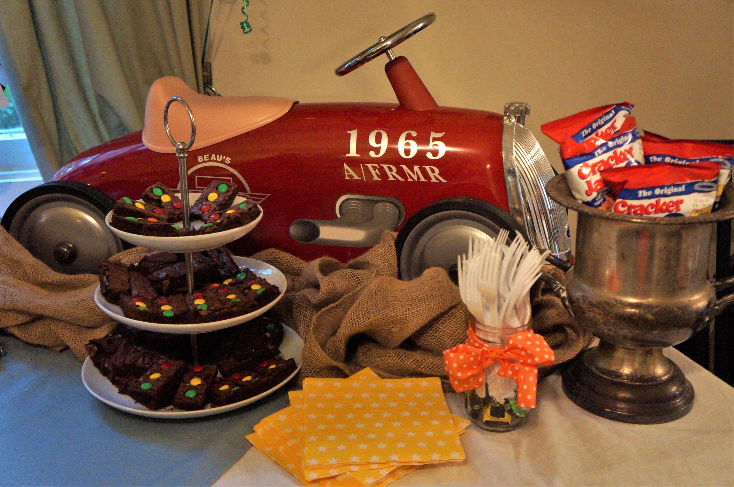 Vintage race car themed birthday party