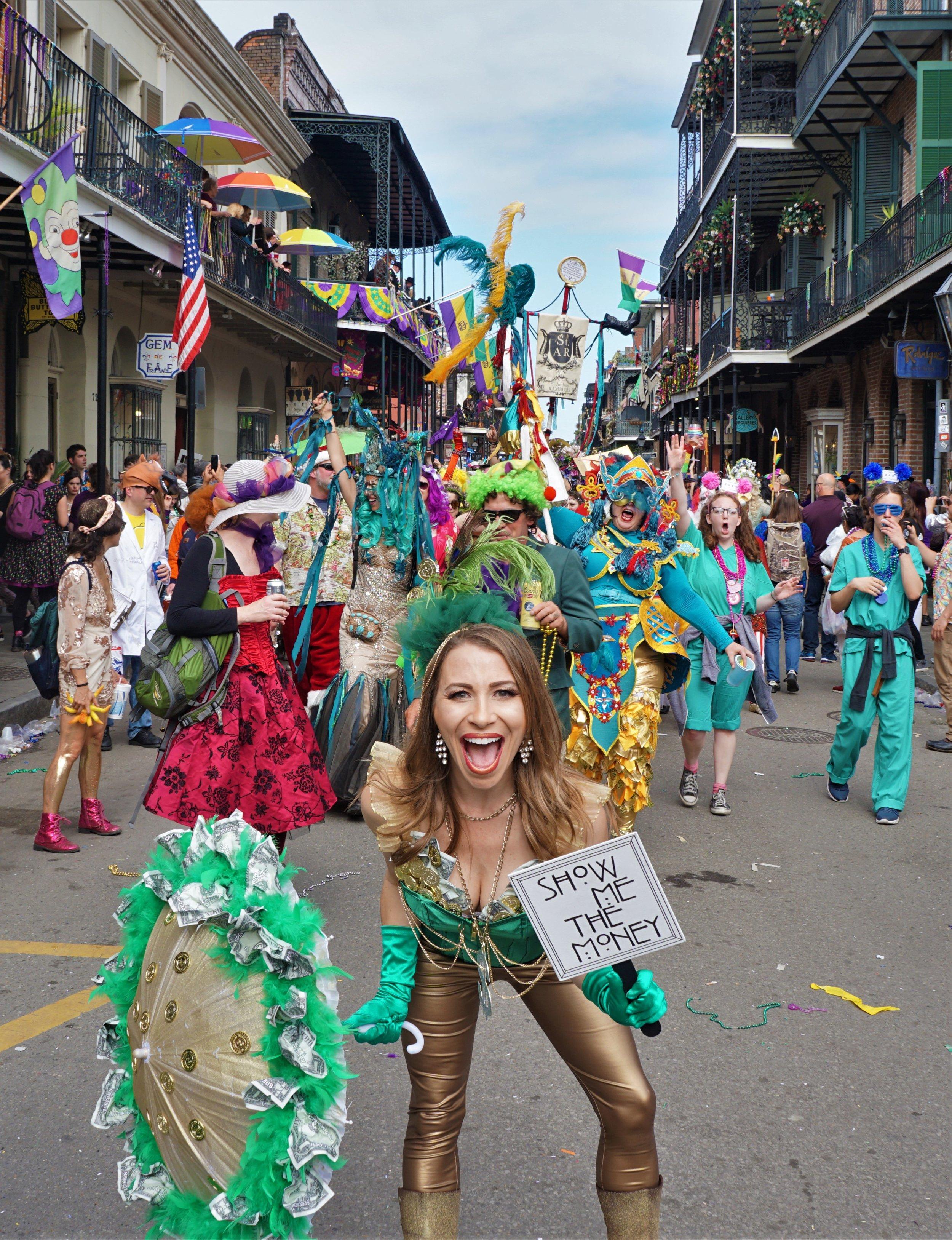 Anne Culer Mardi Gras in New Orleans