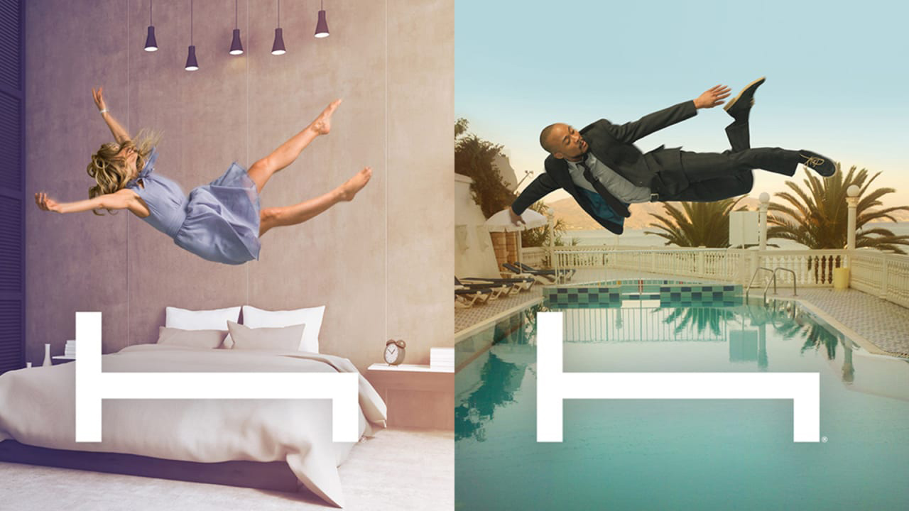 """El estupendo logo de Hotel Tonight y su """"Planea menos, vive más."""" como slogan. Si los trabajas correctamente,  los conceptos sencillos son también los más potentes."""