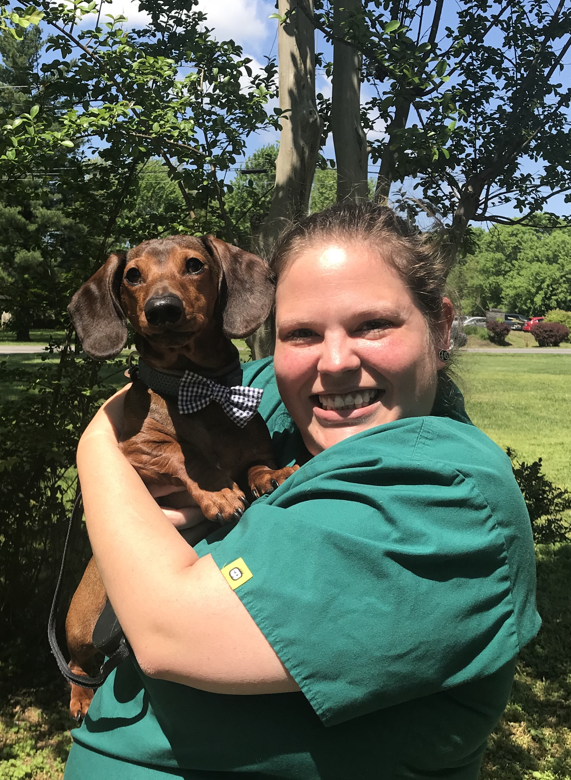 Raven- Veterinary Assistant - Pictured with Wicket