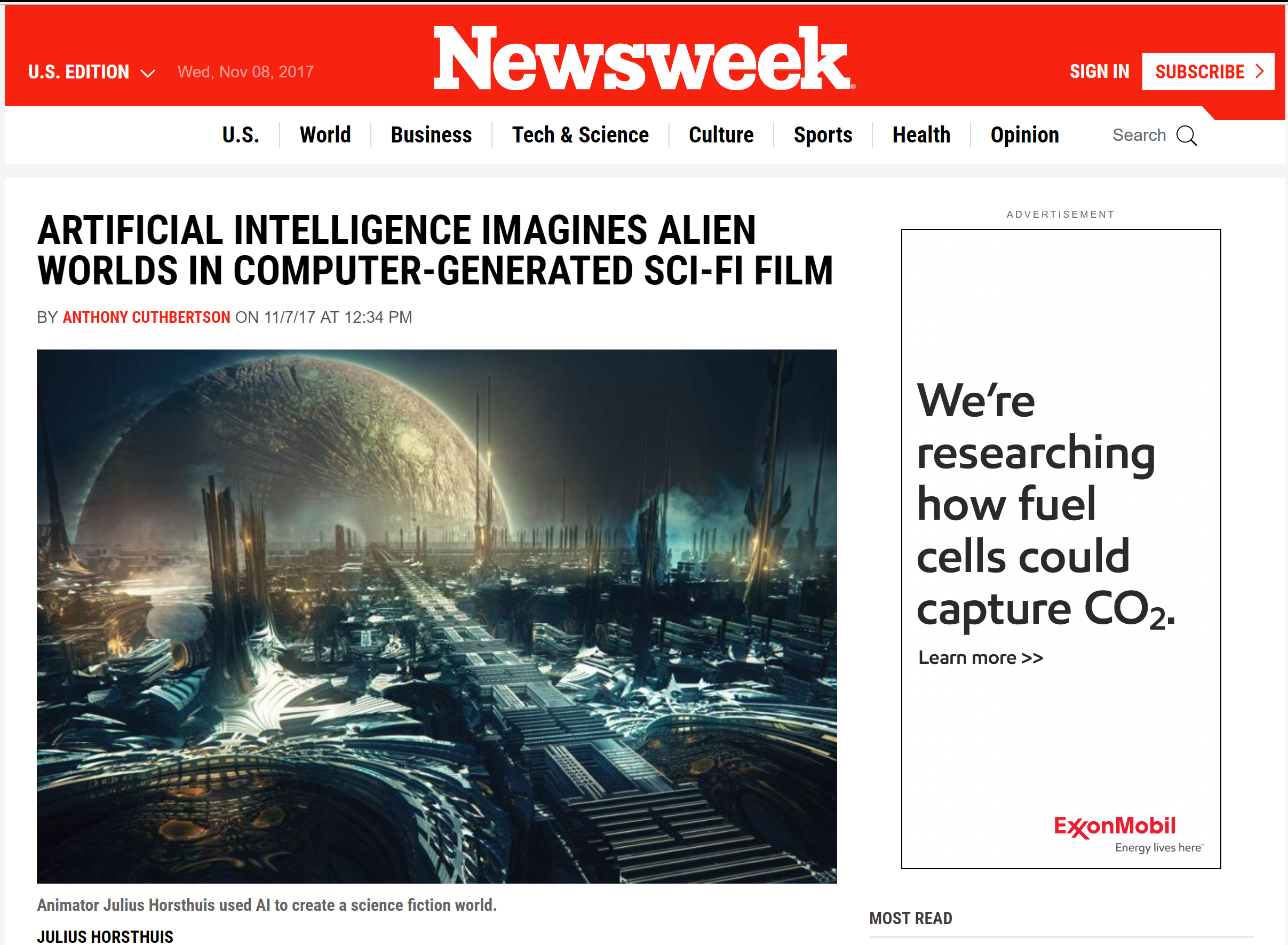 The Newsweek article