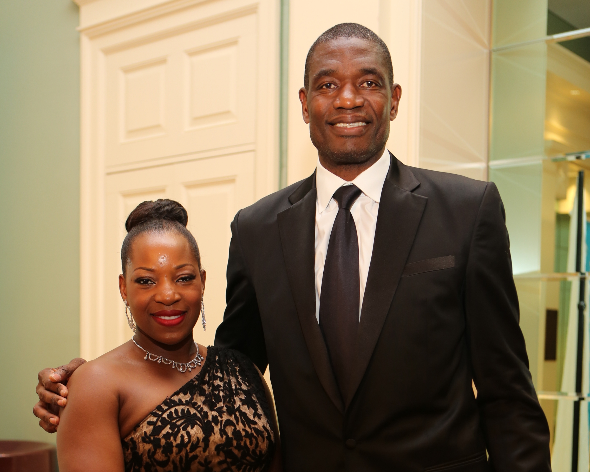 U.S. Fund for UNICEF National Board Member Dikembe Mutombo and his wife Rose and attend The 1st Annual UNICEF Audrey Hepburn® Society Ball at the Wortham Center on September 6, 2013 in Houston, Texas. (Photo by Bob Levey/Getty Images for UNICEF)