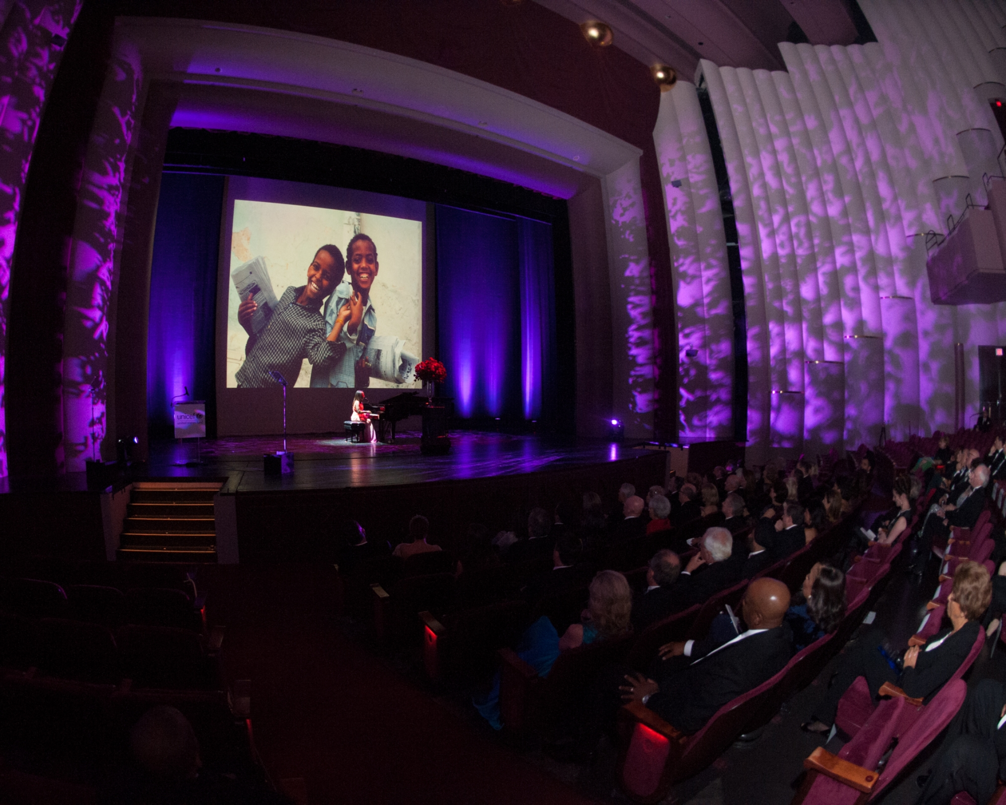 Grammy-nominated musician Oleta Adams performs at The 2nd Annual UNICEF Audrey Hepburn® Society Ball at the Wortham Center on October 14, 2014 in Houston, Texas.  (Photo by Alexander's Fine Portrait Design © Alexander Rogers)