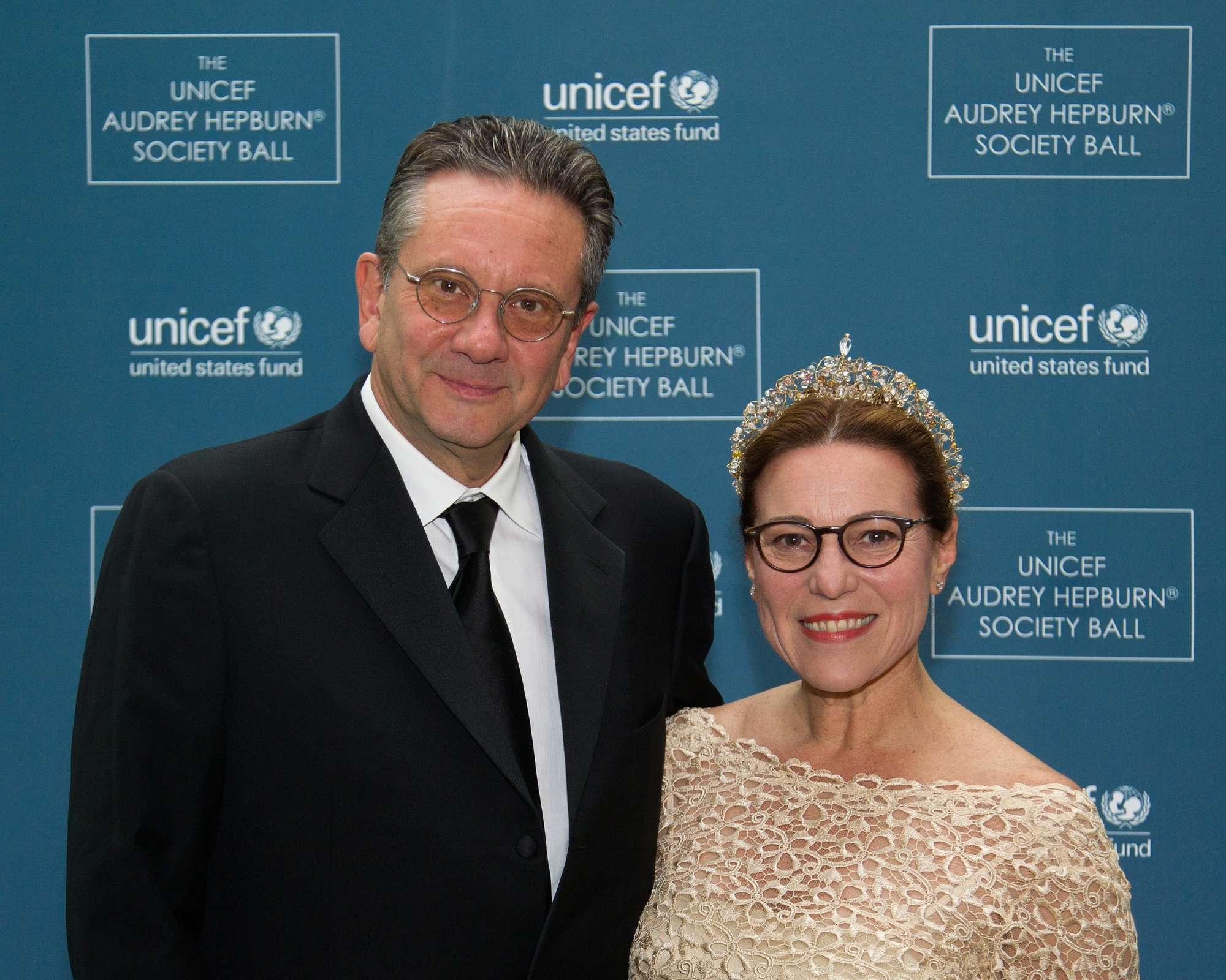 Sean Hepburn Ferrer and Karen Hofer attend The 2nd Annual UNICEF Audrey Hepburn® Society Ball at the Wortham Center on October 14, 2014 in Houston, Texas. (Photo by Bob Levey/Getty Images for U.S. Fund for UNICEF)