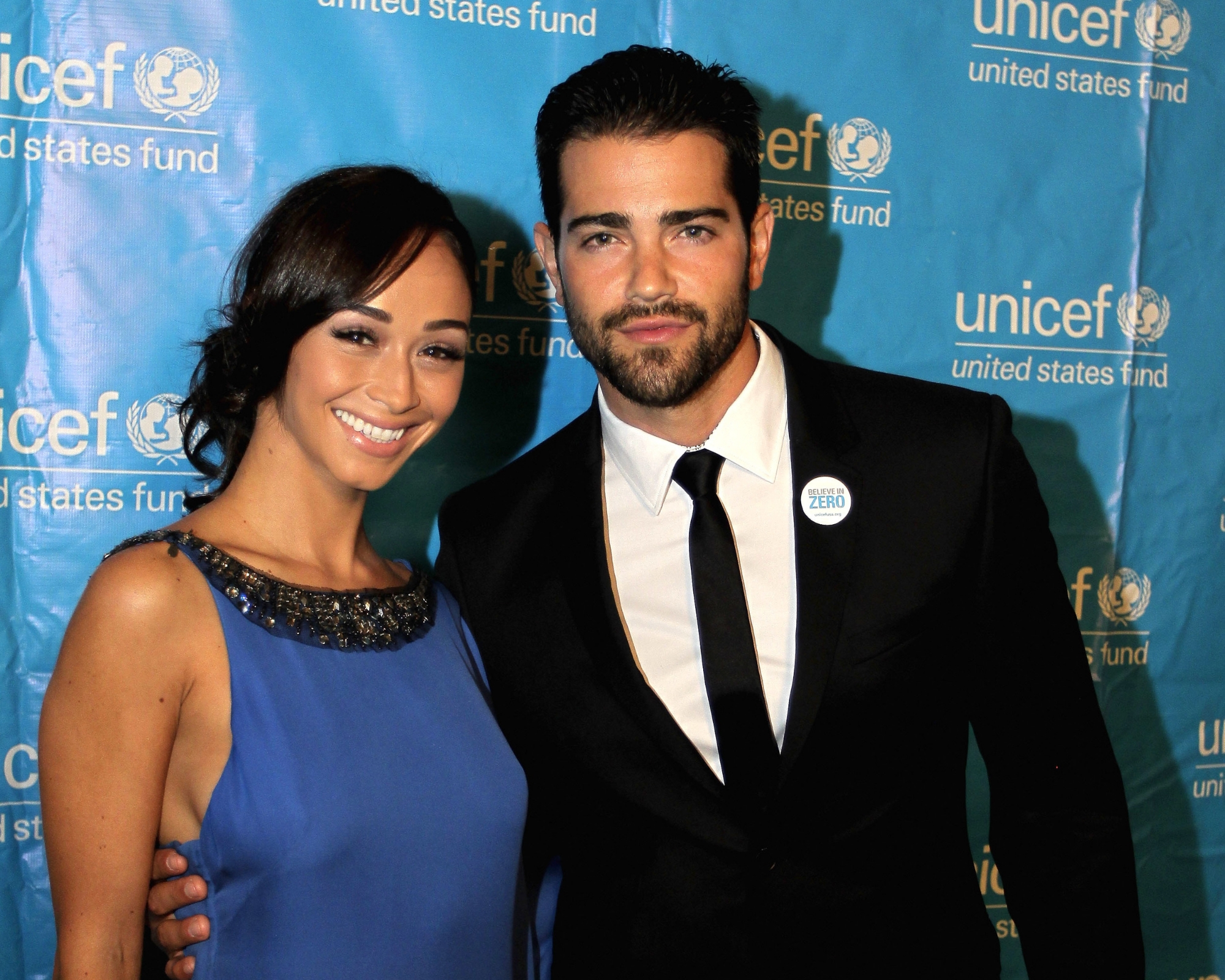 Jesse Metcalfe and Cara Santana attend The UNICEF Audrey Hepburn® Society Ball at Wortham Center on September 6, 2013 in Houston, Texas. (Photo by Bob Levey/Getty Images for UNICEF)