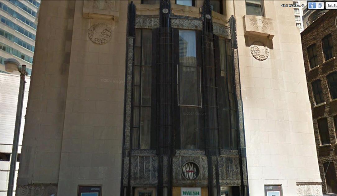 Facade of 68 East Wacker