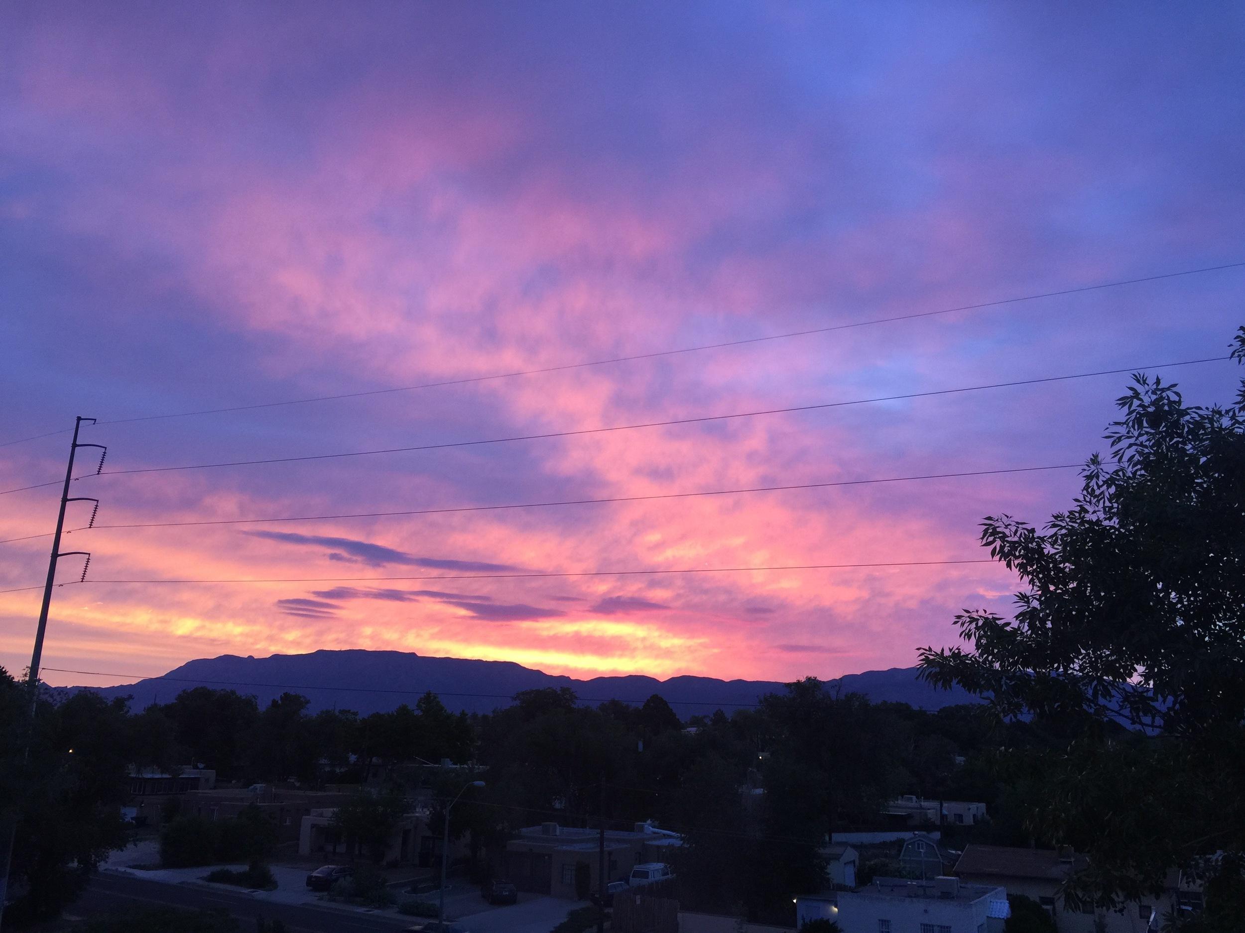 Sunrise, Sandia Mountains