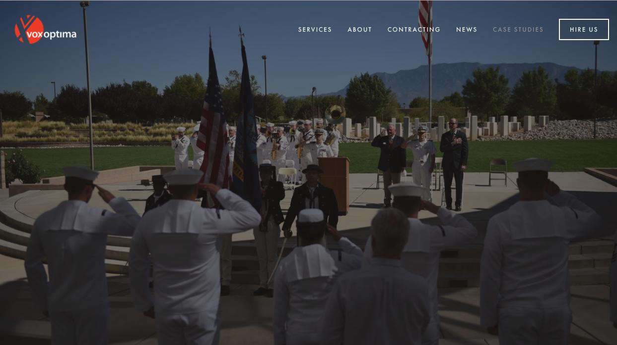 Screenshot VoxOptima.com ABQ Navy Week Case study