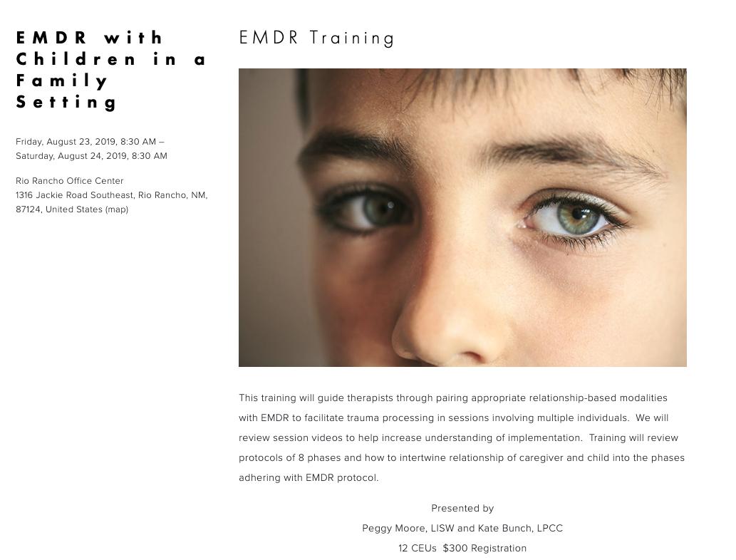 Screenshot from EMDRNM.com
