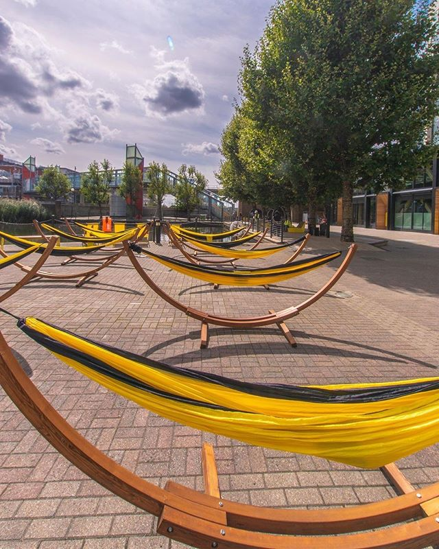 Have a relaxing weekend at @RepublicLDN, open to all as part of @openhouselondon this Saturday and Sunday. Come and visit!⠀ -⠀ 📸 by @v7inspires⠀ .⠀ .⠀ .⠀ #hammock #relax #relaxing #relaxingweekend #thisislondon #hiddenlondon #secretlondon #eastlondon #eastindiadock #towerhamlets #poplar #docklands #londondocklands #openhouse #hammocks #sleep #snooze #nap #publicrealm #publicspace #nature #openhouselondon #office #londonoffice #officespace #sustainability #exterior #exteriorshot