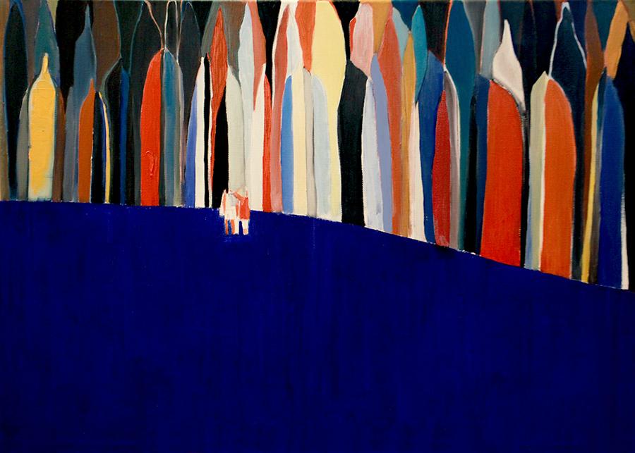 Der Schatten, 布面油画, 5070cm, 2015.jpg