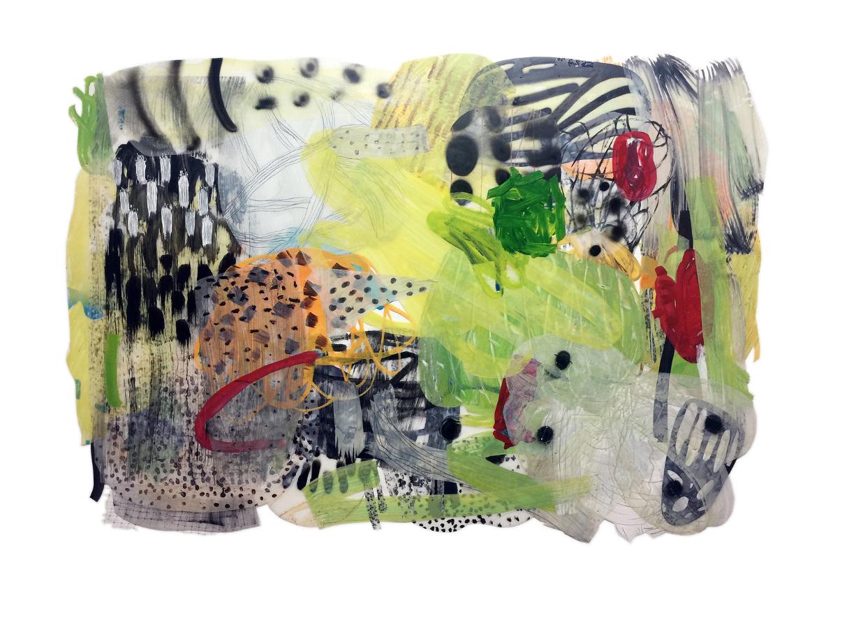 Buterfly 5, 2016  Acrylic painting on acetate Film, mixed medium