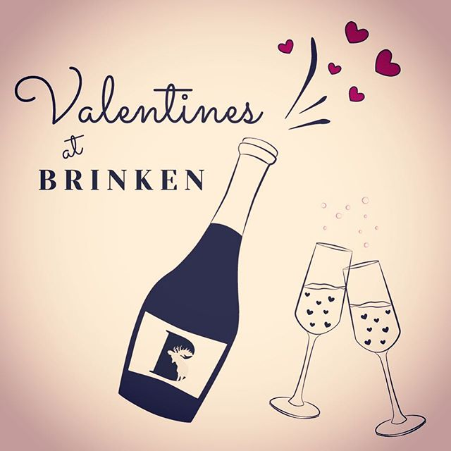 Valentines Special at @restaurang_brinken!  A Couple, Single, Group of Friends.  It doesn't matter❣️ This Valentines we are sharing our love with everyone.  For only 299sek/p you get a bubbly welcome with a glass of Cava followed by a Brinken Knäckepizza, Main course of your choice and Strawberry Love Dessert ❣️❣️❣️
