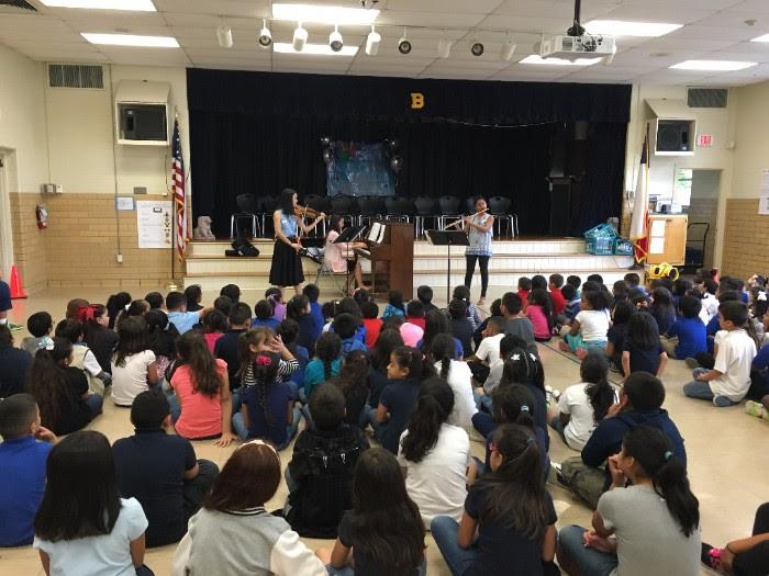 Educational school concert for Austin Chamber Music Center, 2016