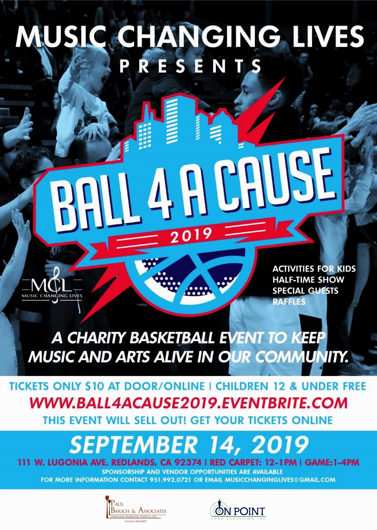 #Charity  #BasketballGame   On Saturday, September 14, 2019, Music Changing Lives will host our 4th  #Charity   #BasketballGame  from 12-4pm it's going dooownnn !!! We have amazing players coming out to support the cause ⛹🏽♀️⛹🏽♂️ Come watch an exciting game to benefit programs provided by  @musicchanginglives . With your support we are changing lives together one note at a time 🙌🏾 Support music and art programs for youth in our community and  #purchase tickets.. . . [Click link in bio for tickets]  Children 12 & under are FREE  There will be raffles 🎊 and vendors for you all to connect with.  Sponsorship and vendor opportunities are still available.  S/O our current sponsors 🤗 ⬇️⬇️⬇️⬇️⬇️⬇️⬇️⬇️⬇️ [Email] MusicChangingLives@gmail.com  For more information & join this movement with us 🔥🏀