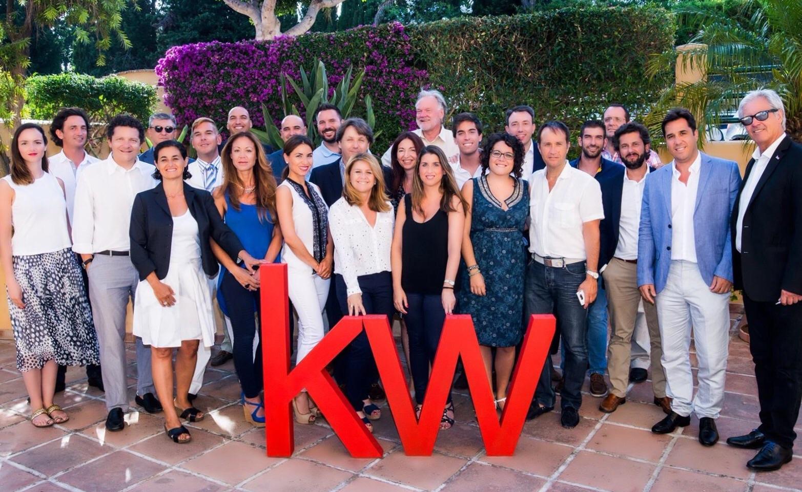 Parte del Equipo KW Marbella hace unos meses