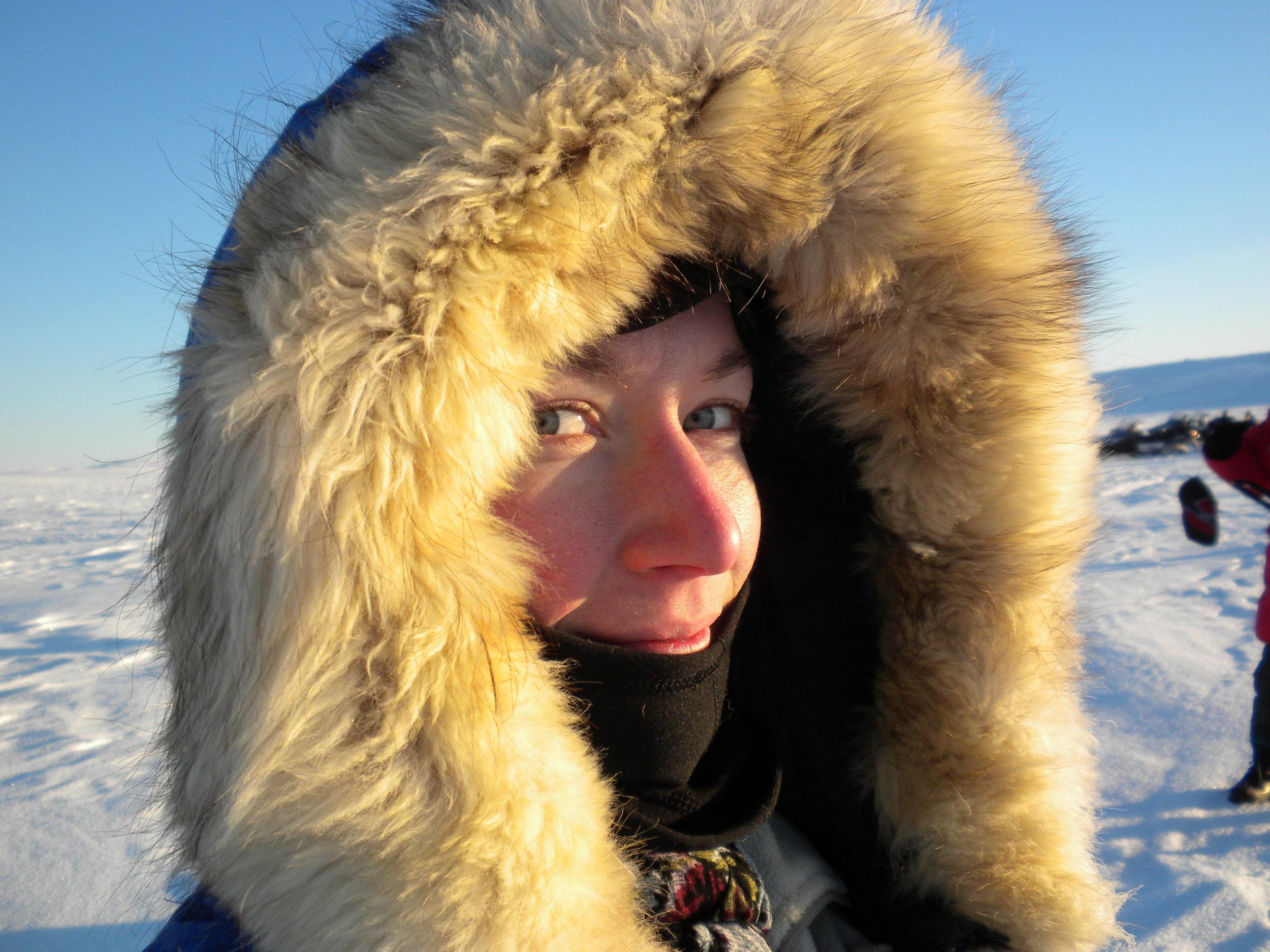 Standing on the arctic tundra in Puvirnituq, Nunavik, Canada